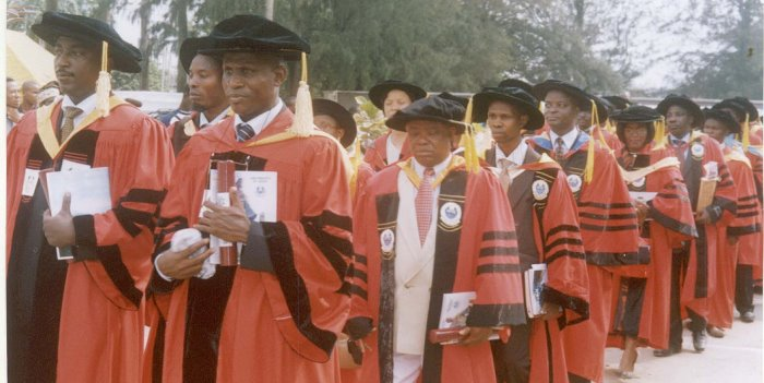 Professor Sunday Akinbo on an Academic Procession